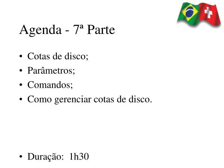Agenda - 7ª Parte