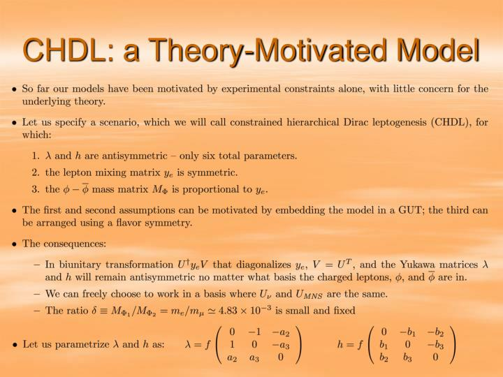CHDL: a Theory-Motivated Model