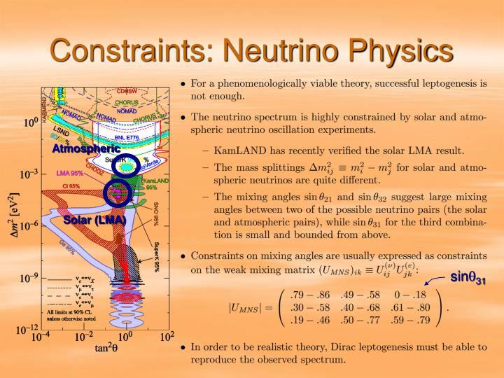 Constraints: Neutrino Physics