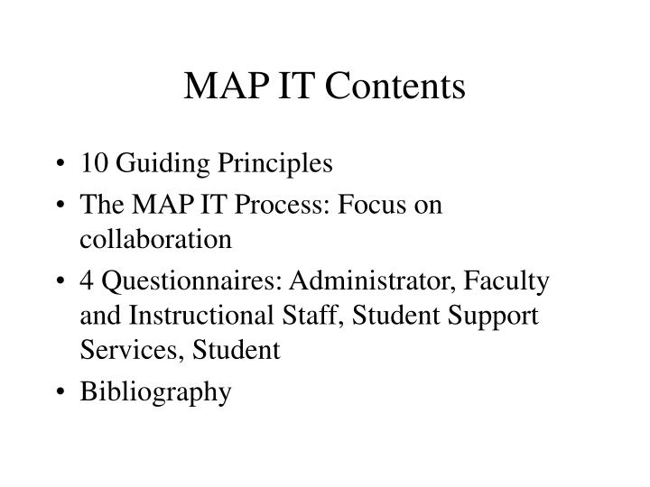 MAP IT Contents