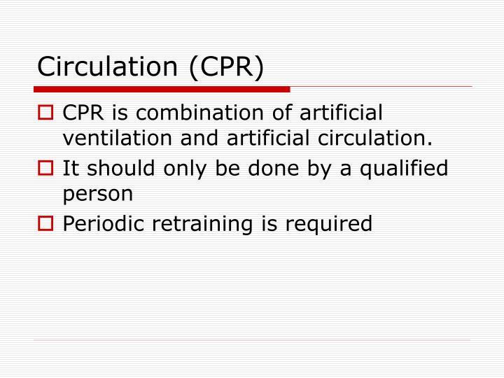 Circulation (CPR)
