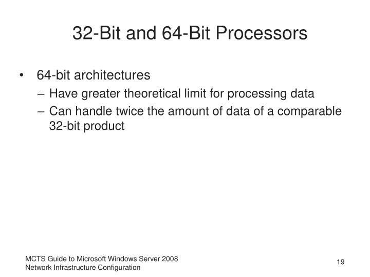 32-Bit and 64-Bit Processors