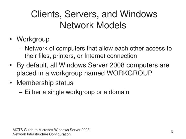 Clients, Servers, and Windows Network Models