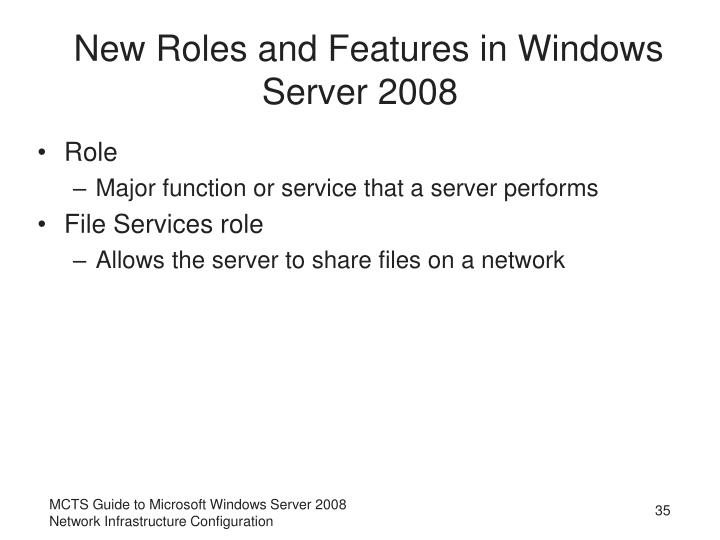 New Roles and Features in Windows Server 2008