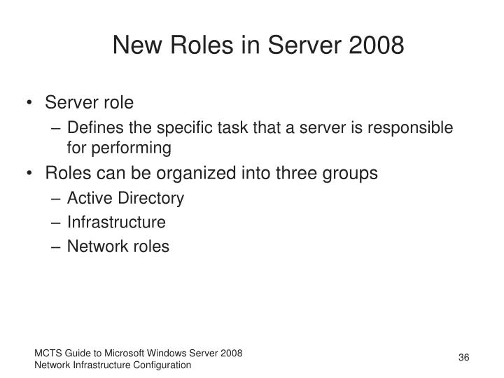 New Roles in Server 2008