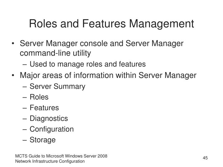 Roles and Features Management
