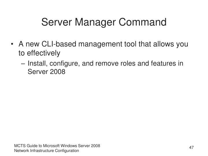 Server Manager Command