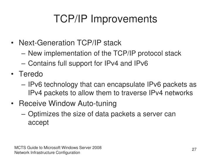 TCP/IP Improvements