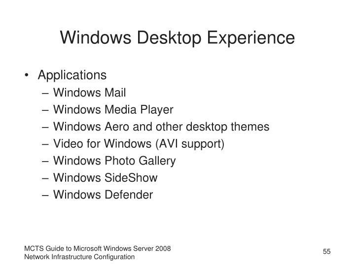 Windows Desktop Experience