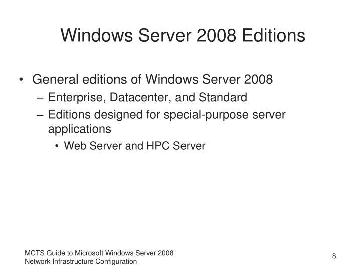 Windows Server 2008 Editions