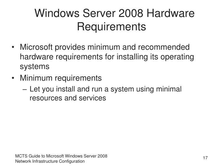 Windows Server 2008 Hardware Requirements