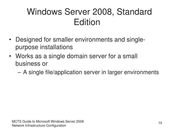 Windows Server 2008, Standard Edition