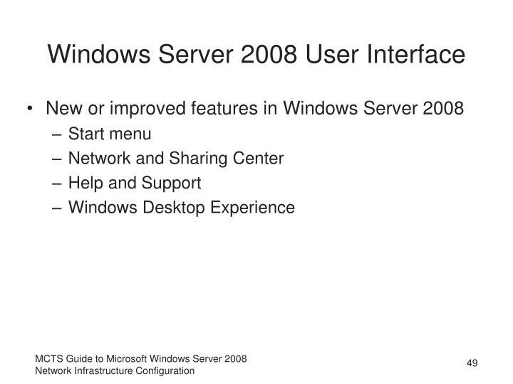 Windows Server 2008 User Interface