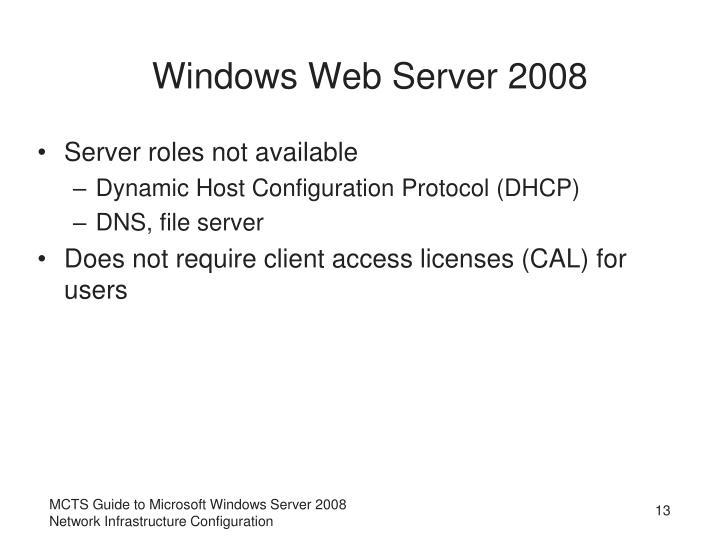 Windows Web Server 2008