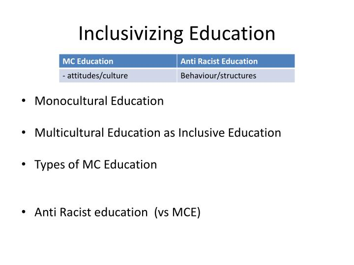 Inclusivizing