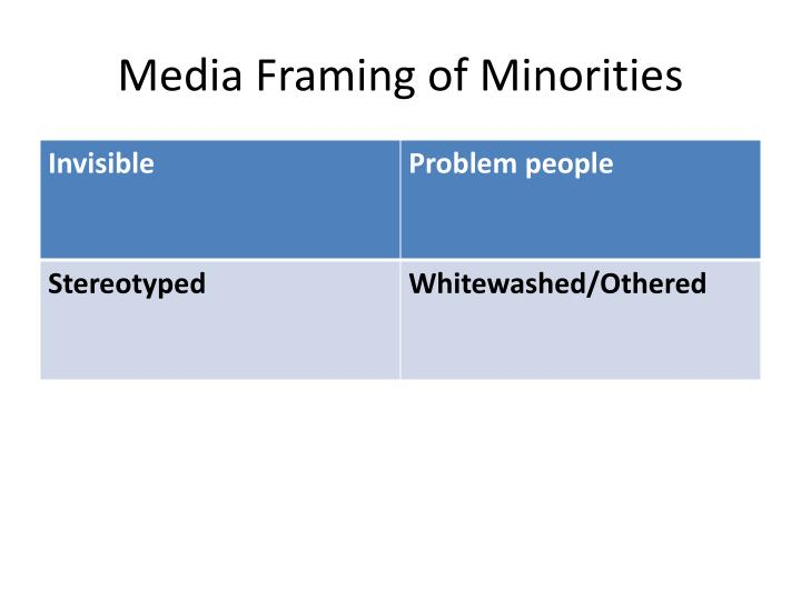 Media Framing of Minorities