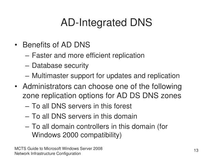 AD-Integrated DNS