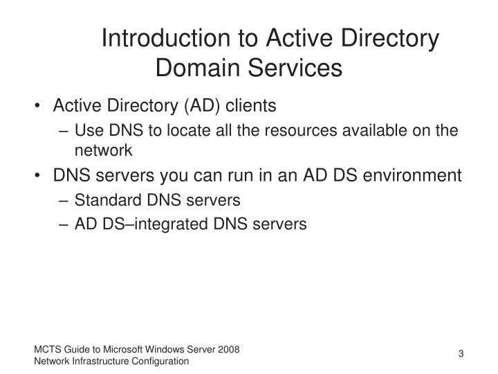 Introduction to Active Directory Domain Services