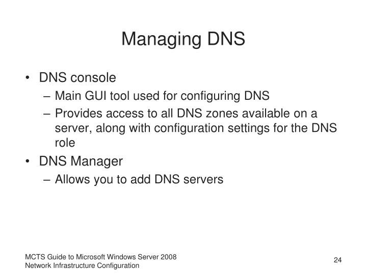 Managing DNS