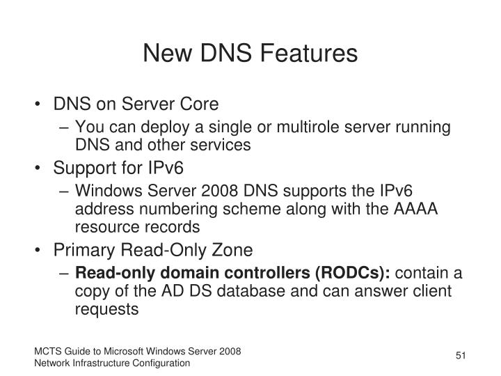 New DNS Features