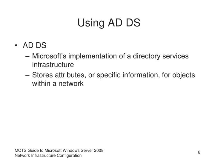 Using AD DS