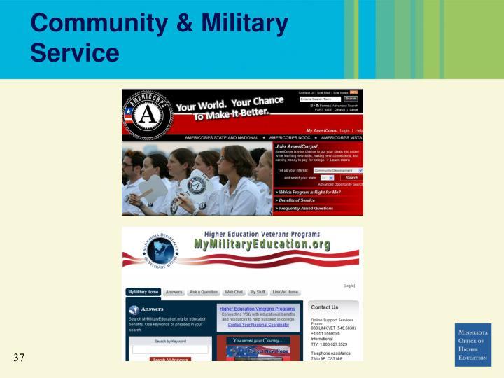 Community & Military