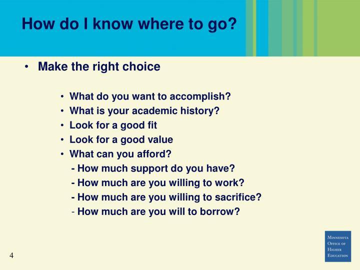 How do I know where to go?