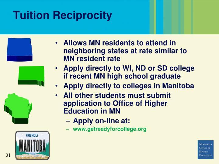 Tuition Reciprocity