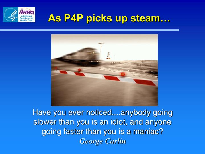 As P4P picks up steam…