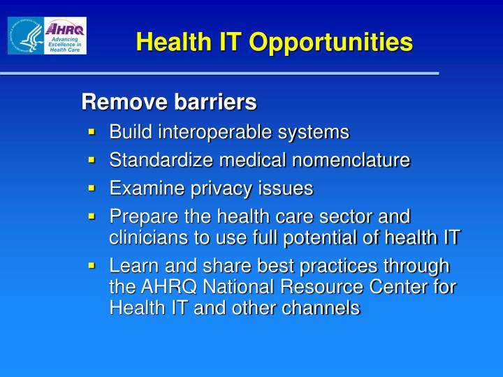 Health IT Opportunities