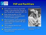 p4p and pacificare