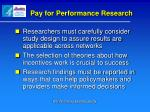 pay for performance research1