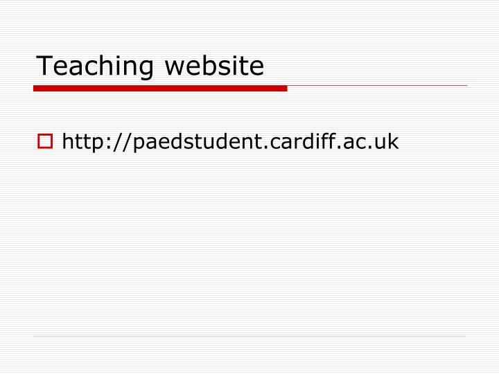 Teaching website
