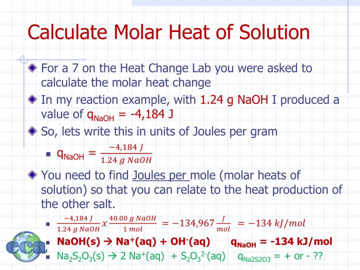 Calculate Molar Heat of Solution