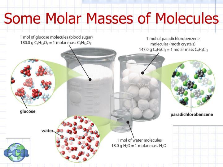 Some Molar Masses of Molecules