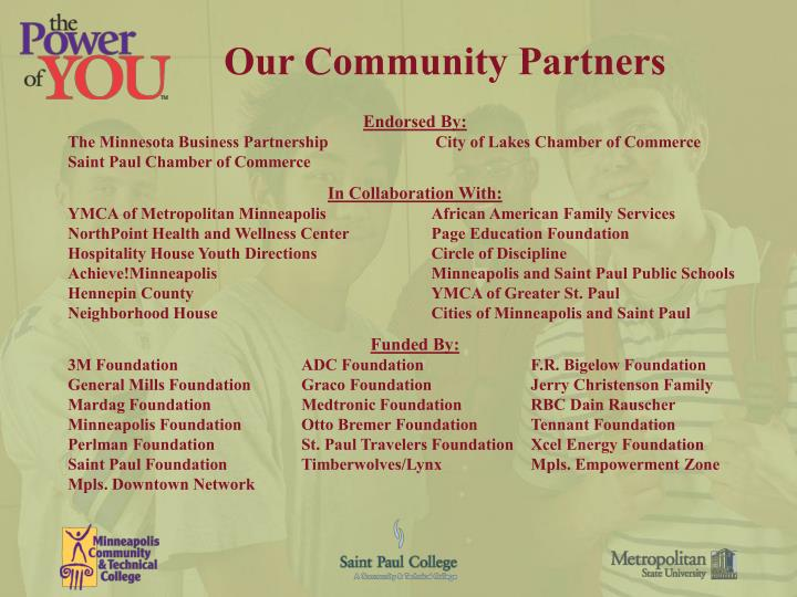 Our Community Partners