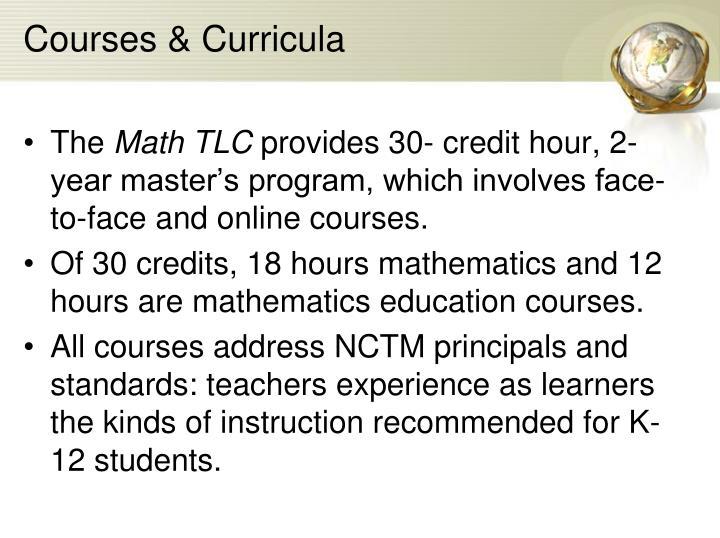 Courses & Curricula