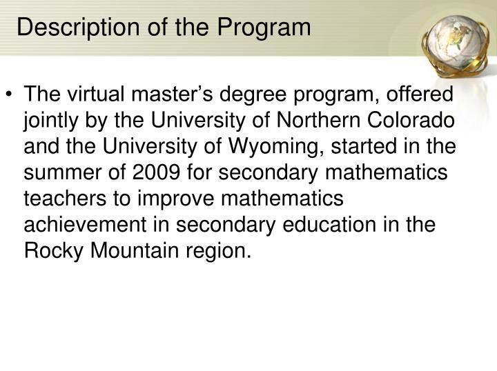 Description of the Program