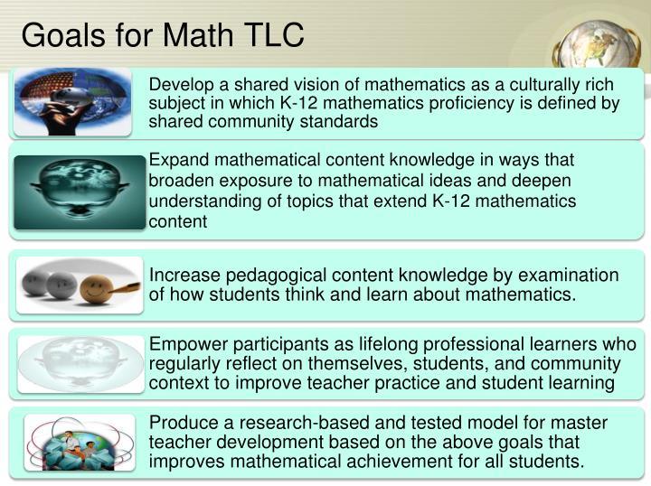 Goals for Math TLC