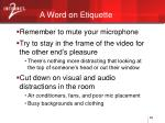 a word on etiquette