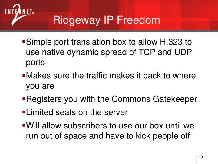 Ridgeway IP Freedom