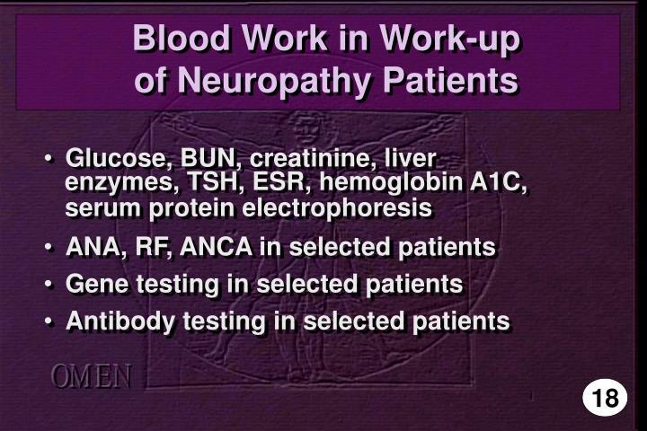 Blood Work in Work-up