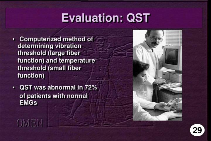 Evaluation: QST