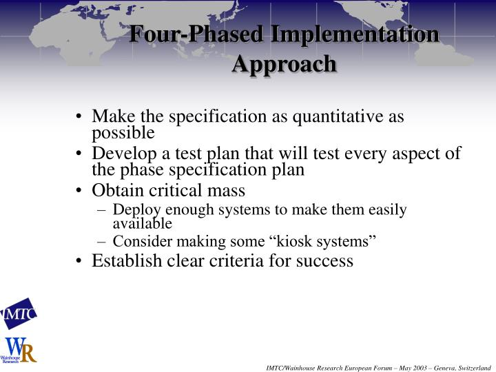 Four-Phased Implementation Approach