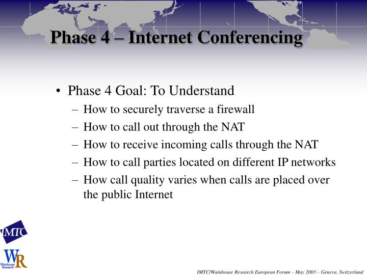 Phase 4 – Internet Conferencing