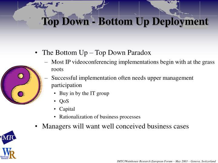 Top Down - Bottom Up Deployment
