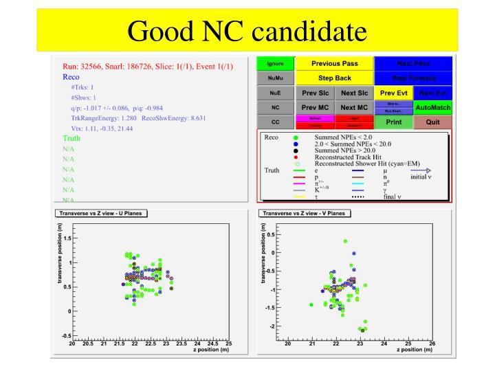 Good NC candidate