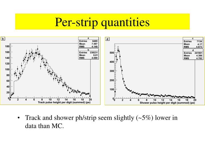 Per-strip quantities