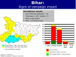 bihar signs of campaign impact