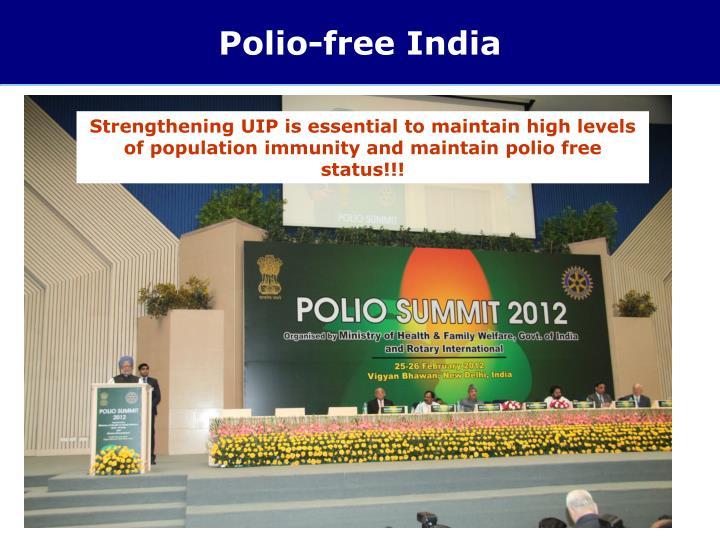 Polio-free India
